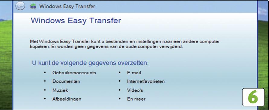 Windows Easy Transfer is een handig hulpmiddel om instellingen, gebruikersaccounts, bestanden en e-mail te verhuizen naar uw nieuwe pc.